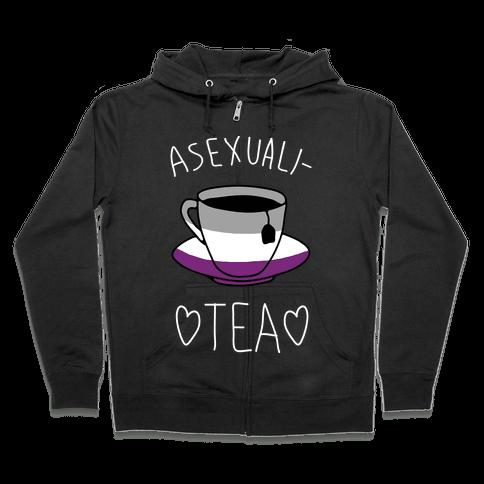 Asexuali-TEA Zip Hoodie