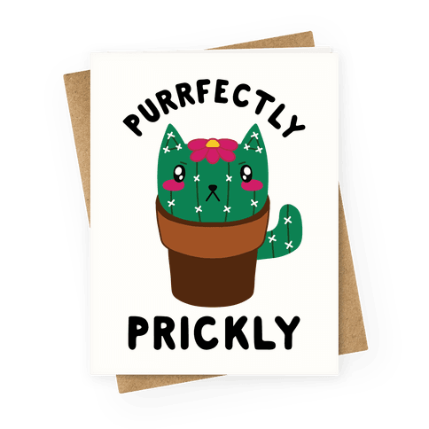 Purrfectly Prickly Greeting Card