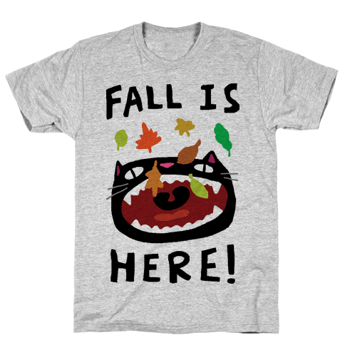 Fall Is Here Cat Tee