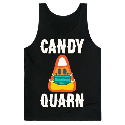 Candy Quarn White Print Tank Top