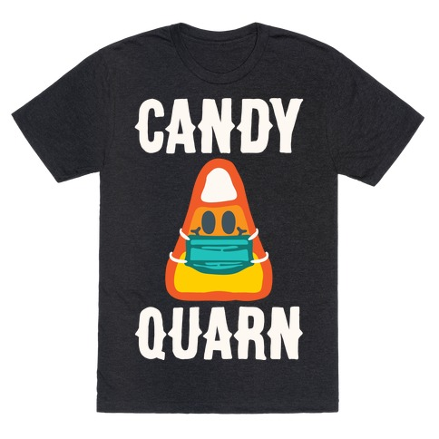 Candy Quarn White Print T-Shirt