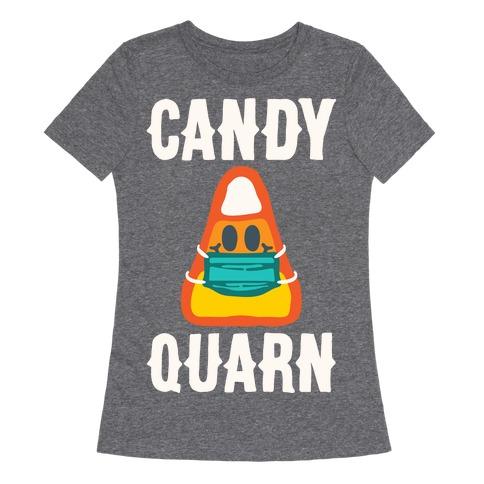 Candy Quarn White Print Womens T-Shirt