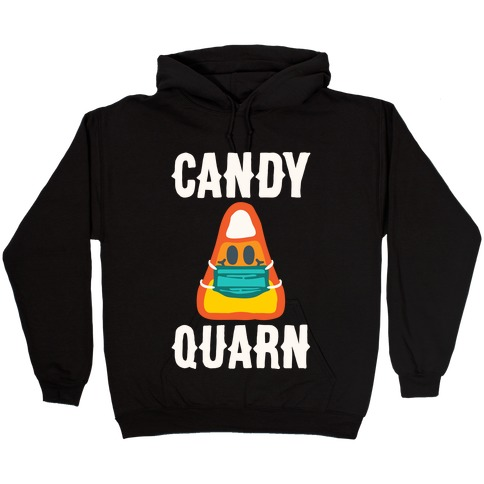 Candy Quarn White Print Hooded Sweatshirt