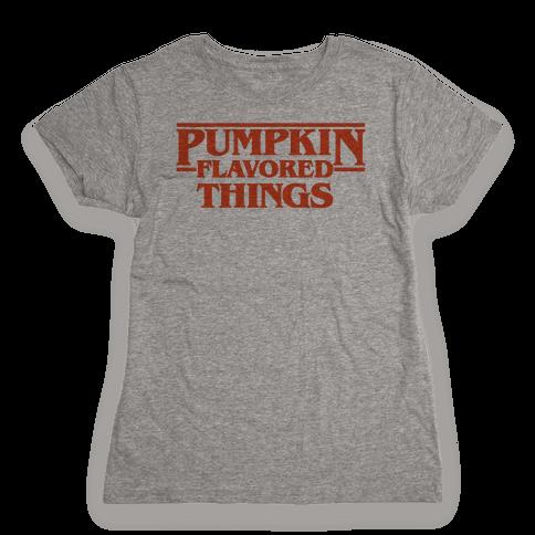 Pumpkin Flavored Things Parody Womens T-Shirt