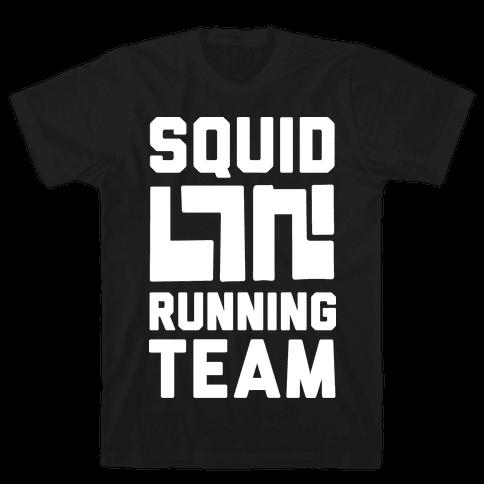 Squid Running Team Mens T-Shirt