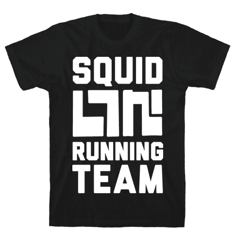 Squid Running Team Mens T-Shirt
