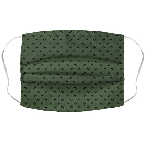 Dainty Dashes Chive Green Accordion Face Mask