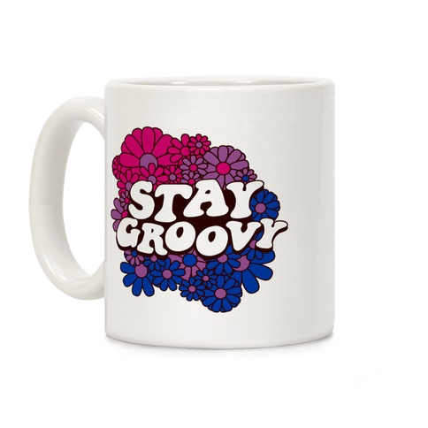Stay Groovy (Bi Flag Colors) Coffee Mug