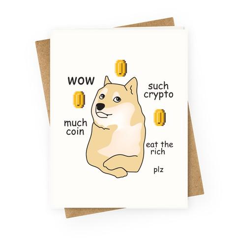 DogeCoin Parody Greeting Card