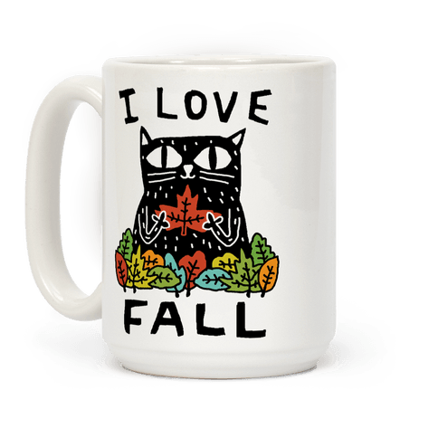 I Love Fall Cat Coffee Mug