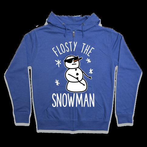 Flosty The Snowman Zip Hoodie