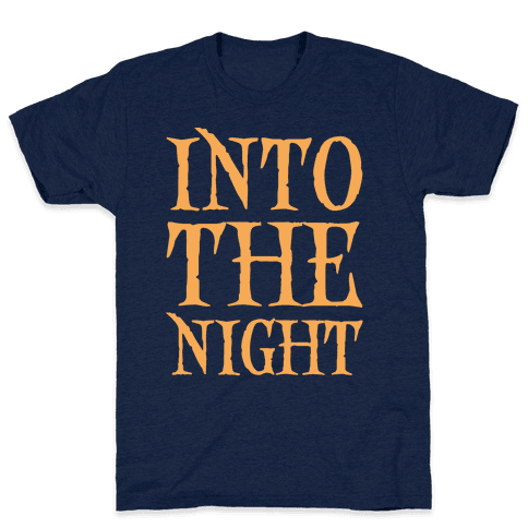 Into The Night Parody White Print Mens T-Shirt