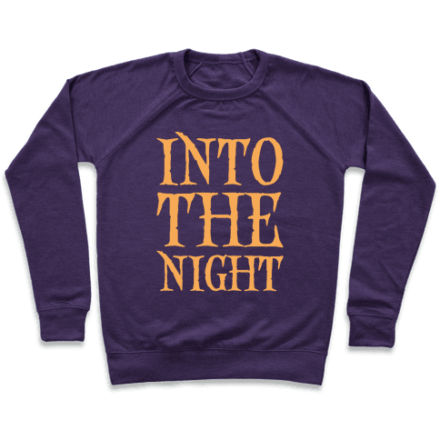 Into The Night Parody White Print Pullover