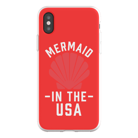 Mermaid In The USA Phone Flexi-Case