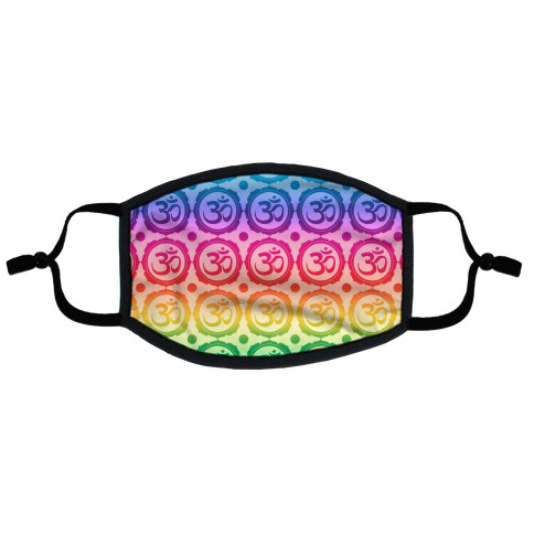 Ohm Rainbow Pattern Flat Face Mask