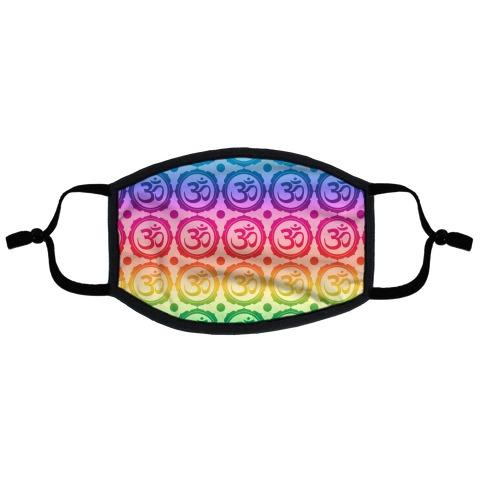 Ohm Rainbow Pattern Flat Face Mask