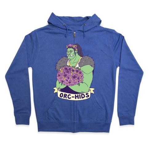 Orc-hids Zip Hoodie