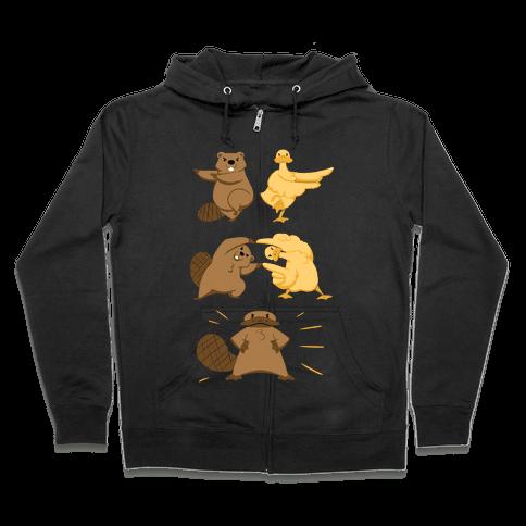 Platypus fusion dance Zip Hoodie
