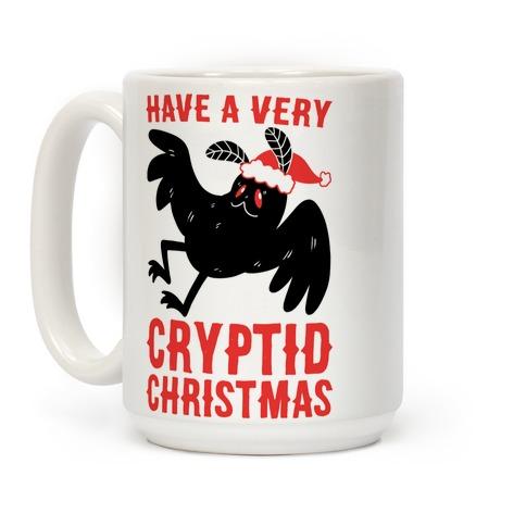 Have a Very Cryptid Christmas - Mothman Coffee Mug