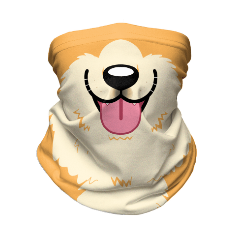 Corgi Mouth Neck Gaiter