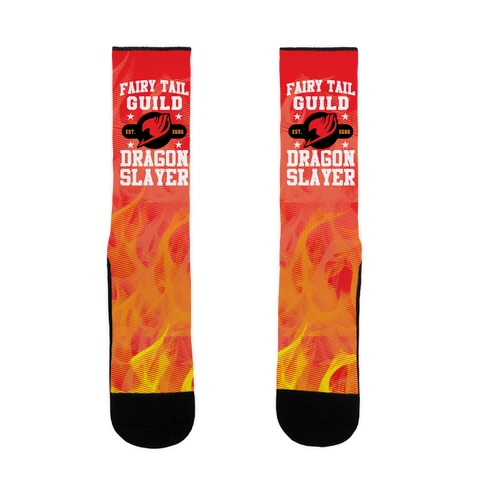 Fairy Tail Guild Dragon Slayer Sock