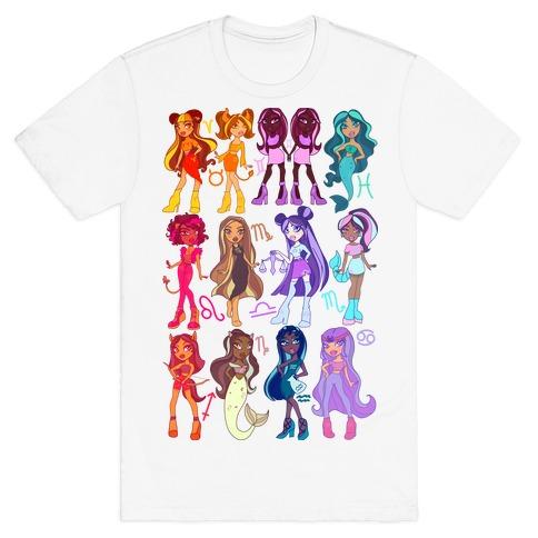 Zodiac Dollz Mens/Unisex T-Shirt