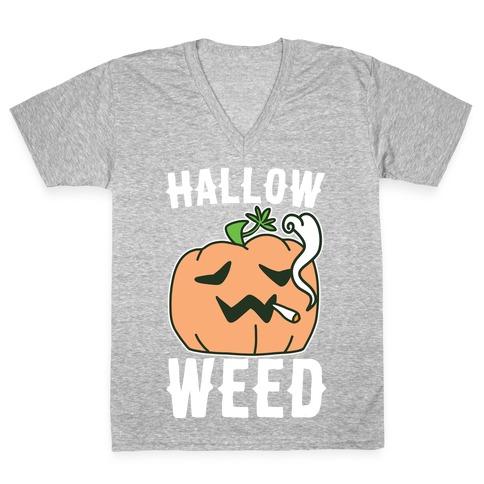 Hallow-Weed V-Neck Tee Shirt