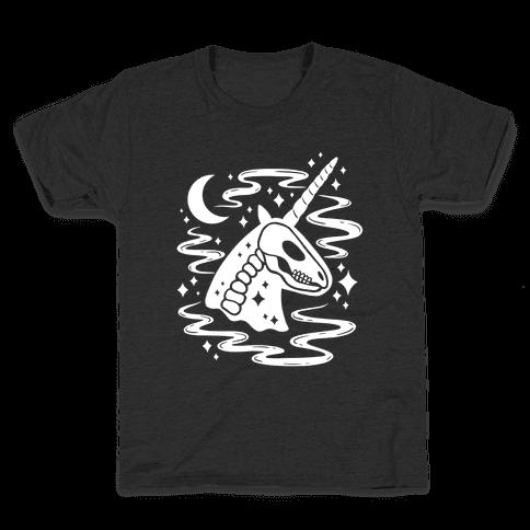 Spooky Ghost Unicorn Kids T-Shirt