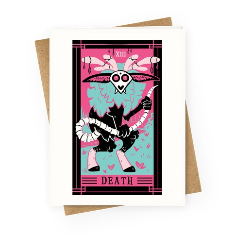 Creepy Cute Tarots: Death Greeting Card