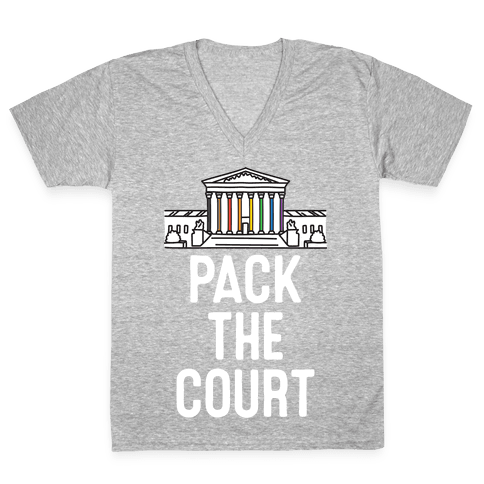 Pack The Court with Pride V-Neck Tee Shirt