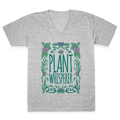 Plant Whisperer V-Neck Tee Shirt