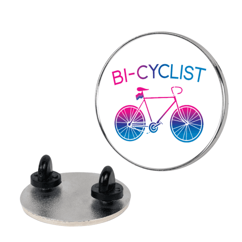 Bisexual Bi-Cyclist Pin