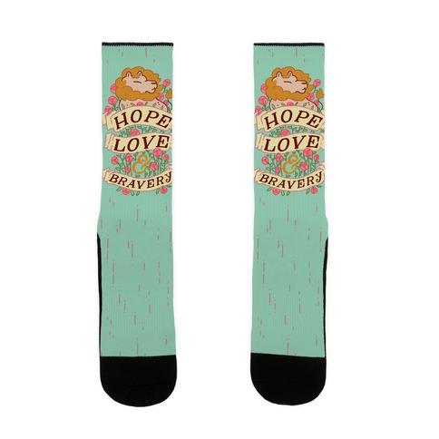 Hope Love & Bravery Sock