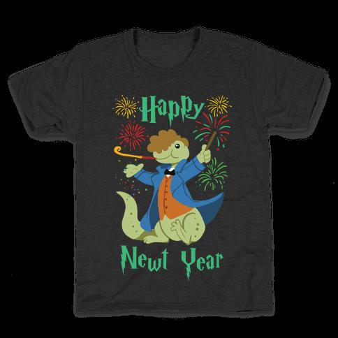 Happy Newt Year Kids T-Shirt
