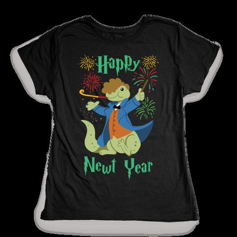 Happy Newt Year Womens T-Shirt