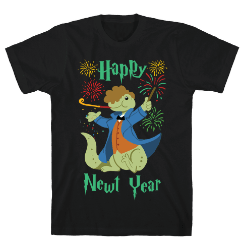 Happy Newt Year Mens T-Shirt