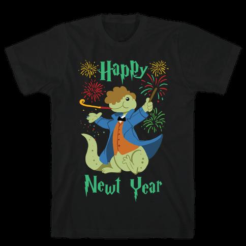 Happy Newt Year Mens T-Shirt