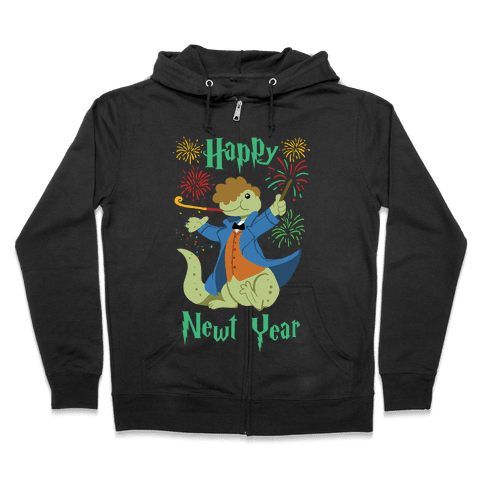 Happy Newt Year Zip Hoodie