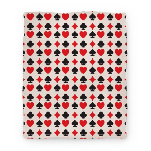 Card Deck Symbols Pattern Blanket