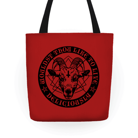 Black Philip: Wouldst Thou Like To Live Deliciously Tote