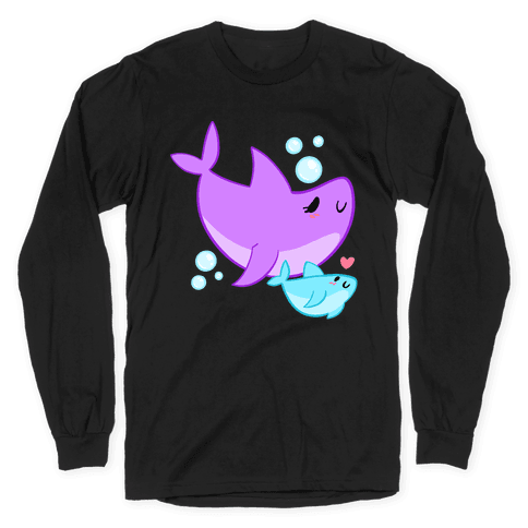Mama Shark And Baby Long Sleeve T-Shirt