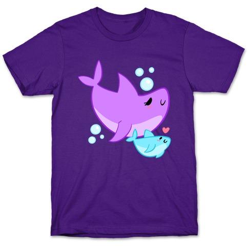 Mama Shark And Baby T-Shirt