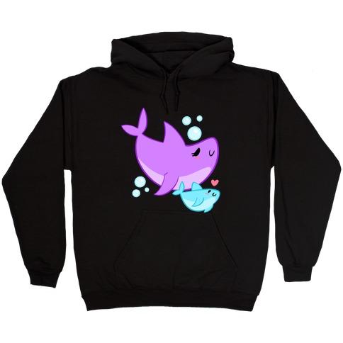 Mama Shark And Baby Hooded Sweatshirt