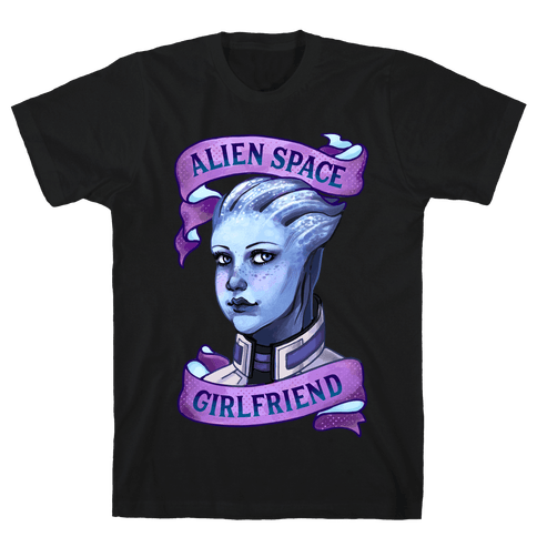 Alien Space Girlfriend Liara Mens T-Shirt