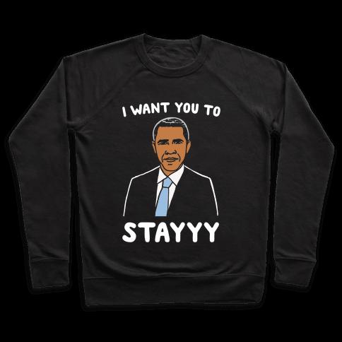 Stay Obama Parody White Print