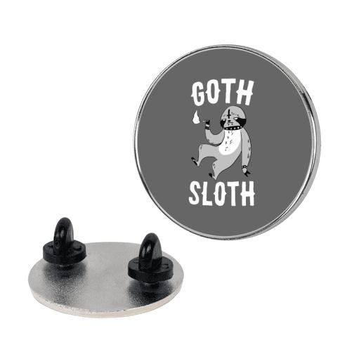 Goth Sloth pin