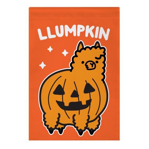 Llumpkin Llama Pumpkin Garden Flag