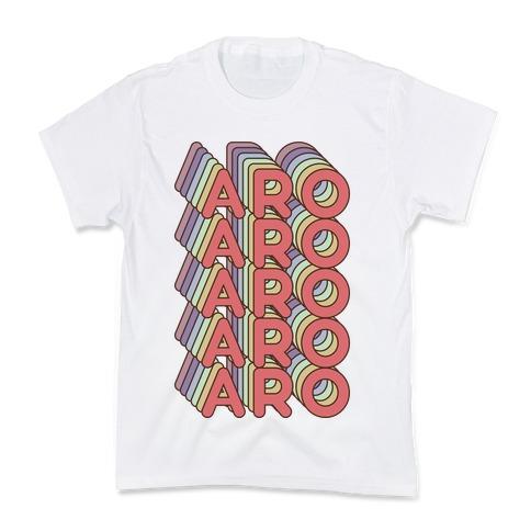 Aro Retro Rainbow Kids T-Shirt