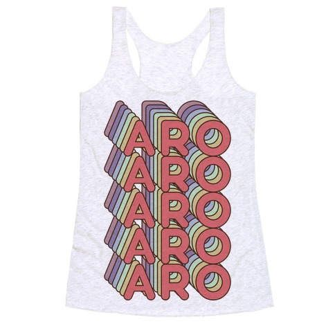 Aro Retro Rainbow Racerback Tank Top