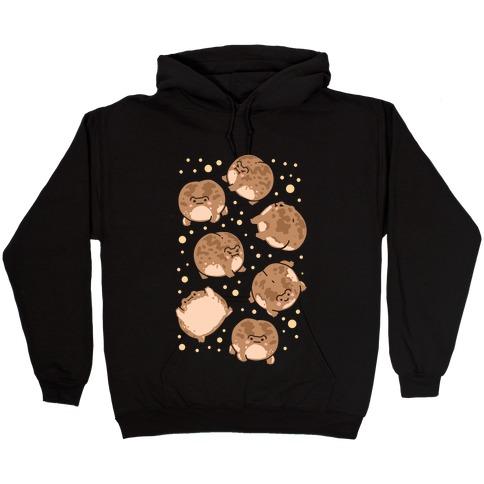 Desert Rain Frog Pattern Hooded Sweatshirt